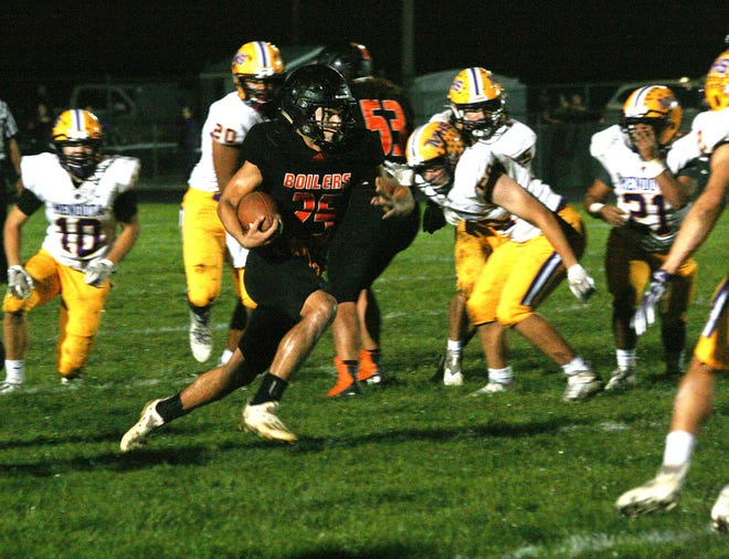 Kewanee's Keyontiss Patterson had one if his best rushing nights of the season, turning in over 100 yards in the first half Friday against visiting Mendota.