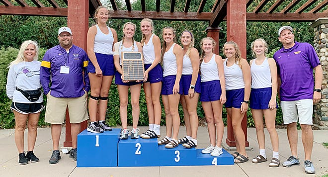 Watertown High School's girls tennis team finished fifth and won the Sportsmanship Award in the state Class AA tournament that was held Thursday and Friday and Sioux Falls. Pictured from left are assistant coach Renee Cummings, head coach Ryan Zink, Leyla Meester, Josie Heyn, Ellie Zink, Jaida Young, Grace Ortmeier, Sophia Nichols, Cayda Weiss, Faith Berg and assistant Nathan Albertson.