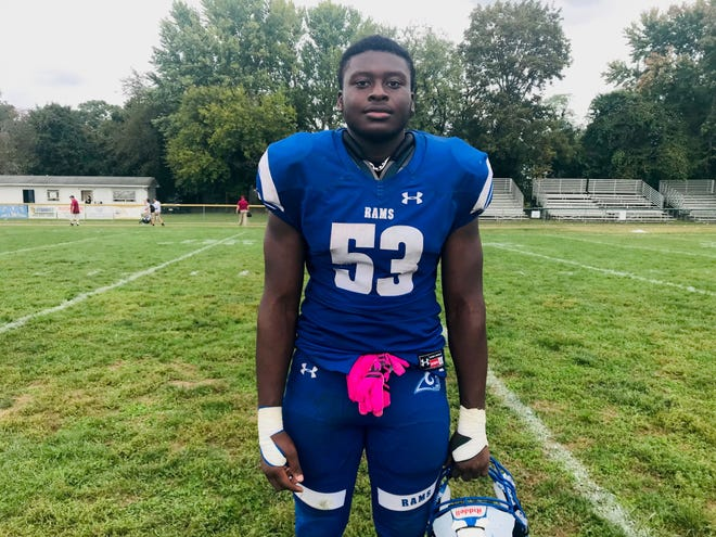 Salem senior Jayden Wright had two sacks and two fumble recoveries in a 30-13 win over Haddon Heights on Saturday. He was also named the school's homecoming king.