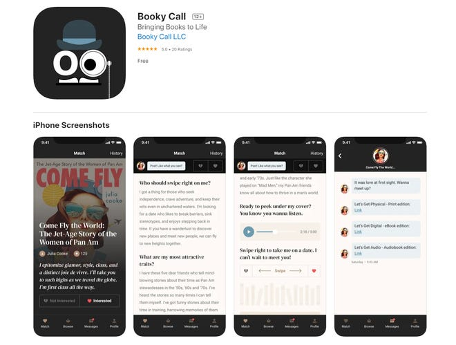 Match yourself with a good book with new app Booky Call.