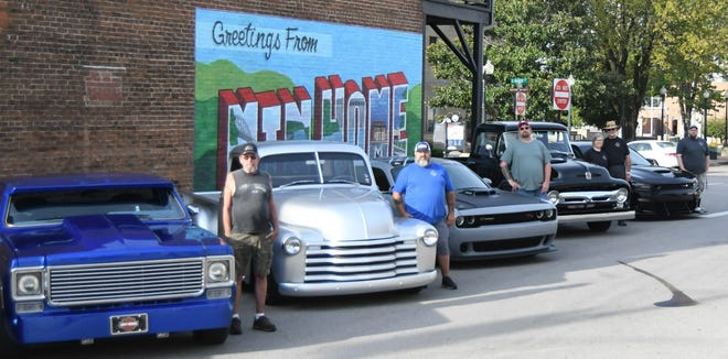 Cruisers of Mountain Home members (from left) Larry Danker, Ron Marler, Bill Elam, Joyce Simmons, Robert Simmons and Bobby Pavey Jr. stand next to their vehicles. The Cruisers of Mountain Home, along with the Bad Habits car club, are organizing a Halloween parade and trunk or treat for Saturday, Oct. 30.