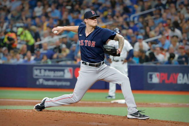 Tanner Houck tossed five innings in relief for the Red Sox.