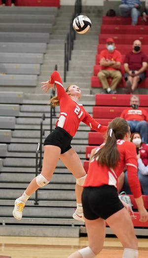 Lexi Tucci had 13 kills, six points, 10 digs and 11 receptions to lead Sandy Valley past Strasburg.