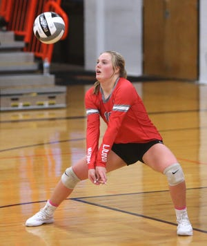 Gabby Romano had 21 kills, seven points, nine digs and 12 receptions to lead Minerva past Canton South.