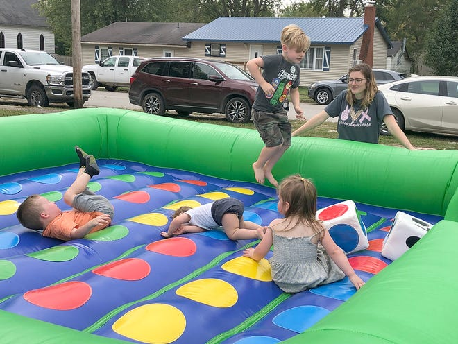 """The city of Blackwater hosted this year's fall festival """"Octoberfest"""" on Saturday, Oct. 9 in downtown Blackwater. Along with an array of kids games, such as this bounce house, patrons also enjoyed live music, food, a myriad of vendors and car show."""