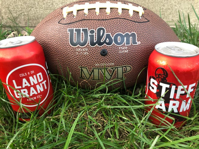Land-Grant's Stiff-Arm IPA is a great play call for a day of watching football.