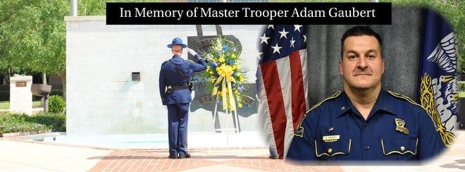 Louisiana State Police shared this tribute to Master Trooper Adam Gaubert.