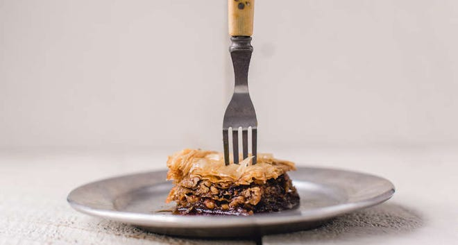 Chocolate Chip Pecan Pie Baklava