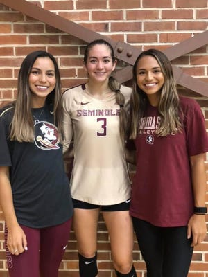 The three Chacon sisters together in Tallahassee.