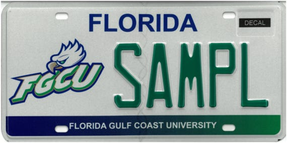 The specialty license plate representing FGCU has been redesigned, the first since the plate was enacted by the Florida Legislature in 1996.