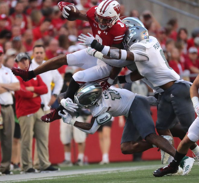 Running back Jalen Berger was dismissed from the Wisconsin Badgers' football team on Sunday.