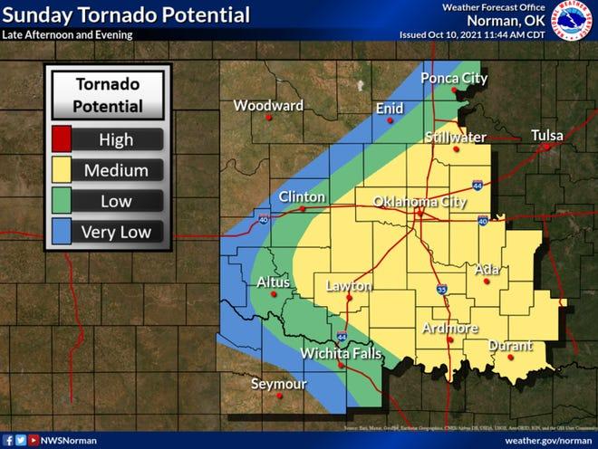 A Tornado Watch is in effect until 10 p.m.