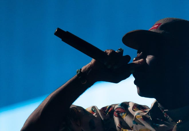 Rapper Tyler, the Creator performs as a headliner at the Austin City Limits Festival, Sunday Oct. 10, 2021.