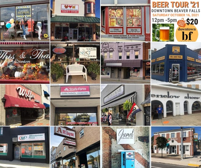 The Downtown Beaver Falls Beer Tour is scheduled for 12-5 p.m. Oct. 16, with the following locations in town serving as stops.