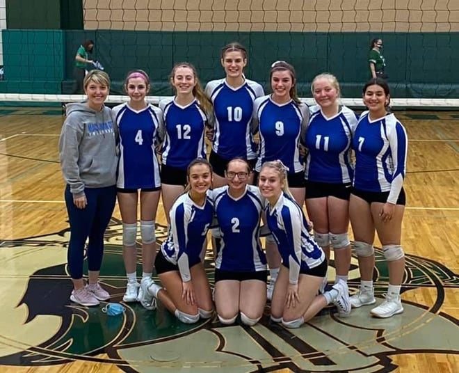 The Mackinaw City volleyball team clinched the Northern Lakes Conference title after winning all three matches at its conference tournament on Saturday.
