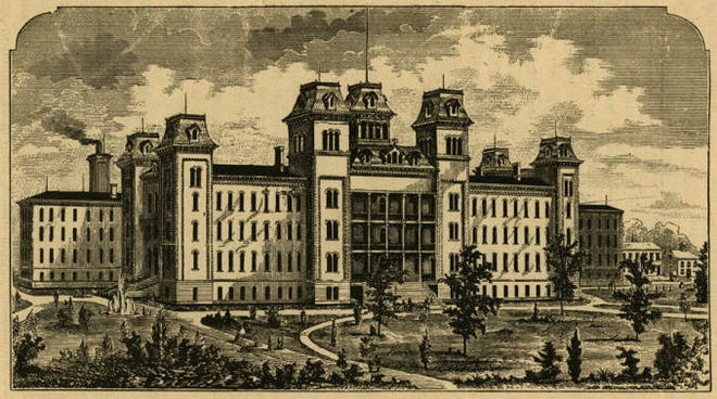 This Ohio School for the Deaf building was constructed in 1868 near downtown Columbus.