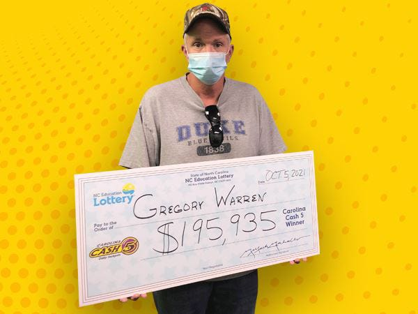 Randolph County resident Gregory Warren won half of an almost $400,000 Cash 5 N.C. lottery jackpot.