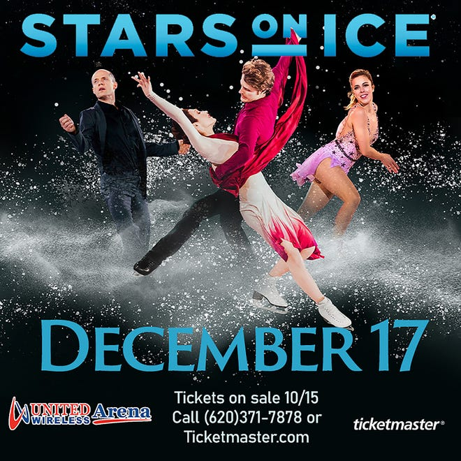 """Tickets go on sale Friday, Oct. 15 at 10 a.m. for the 2021 Stars on Ice """"Holiday"""" Tour at United Wireless Arena. The event will be held at UWA on Dec. 17 at 7:30 p.m."""