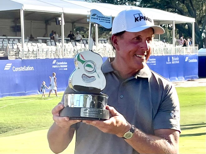Phil Mickelson won the inaugural Constellation Furyk & Friends on Sunday at the Timuquana Country Club.