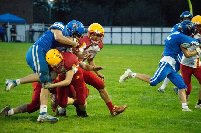 The Reading Ranger defense recorded five turnovers against Springport. They were selected as a group to be on the Top Performers List.