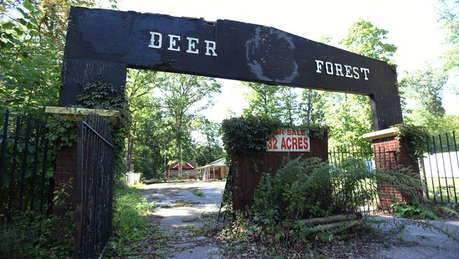 Deer Forest, located in Coloma, is pictured on Sept. 17, 2021. The former zoo and amusement park is scheduled to go to auction in October.