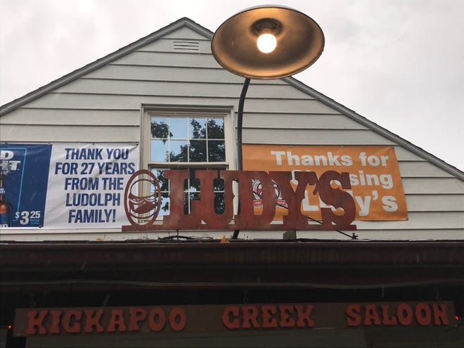 """Ludy's Kickapoo Creek Saloon, 9827 W. U.S. Route 150 in Kickapoo, sports an outdoor banner stating, """"Thank you for 27 years, from the Ludolph family."""" The business will shut down at the end of the month."""
