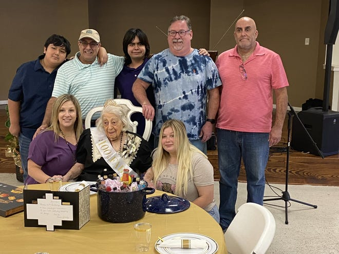 Helen Henry celebrated her 100th birthday surrounded by family and friends.