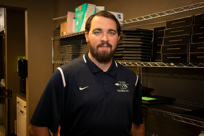 Keaton O'Neal is a graduate of Texas State Technical College's Cybersecurity program and is a system support specialist at the Waxahachie Independent School District.