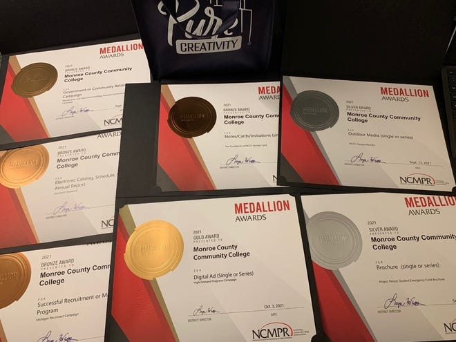 The Monroe County Community College Office of Marketing and Communications earned seven medallion awards recently.