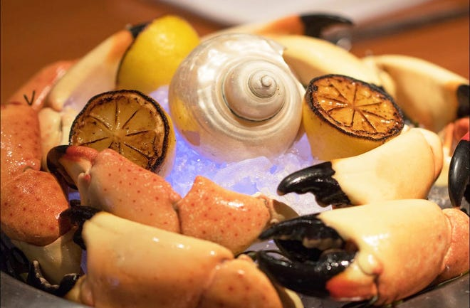 A stone crab platter at PB Catch.