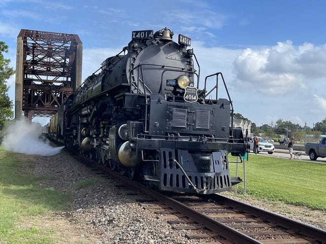 The historic Union Pacific Big Boy 4041 steam engine passed over the bridge during its visit to Plaquemine in August.
