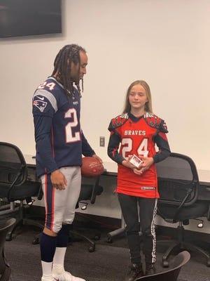 Quinn Miller met Stephon Gilmore in 2019.