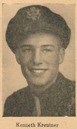 Kenneth Kreutner was killed Oct. 10, 1944, in a plane crash.