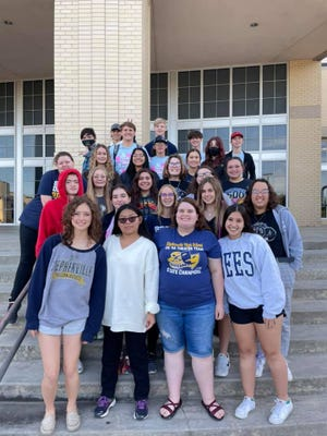 Stephenville High School choir students recently auditioned for the Region Honor Choir. Following are the results for those advancing to the next round on Nov. 13. Three sopranos, Suellyn, Madison and Mila; eight altos plus one alternate, Arizona, Kate, Haley, Cameron M., Samantha, Jasmine, Bella, Addie and Piper; two tenors, plus one alternate, Klayton, Ronin and Matthew; and three basses, Hunter, Corben and Cade.