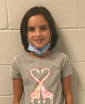 Aria Allen of  Surf City Elementaryis Pender County's Student of the Week.