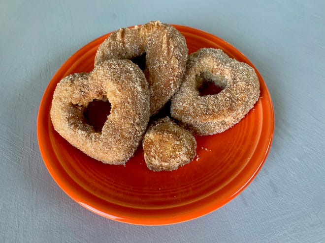 While there's still a mess to clean up after making these air fryer apple cider doughnuts, there isn't a large amount of oil to clean up.