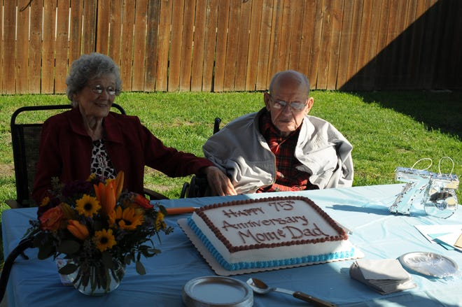 Oriole and Calvin Nelson celebrated their 75th wedding anniversary on Oct. 2.