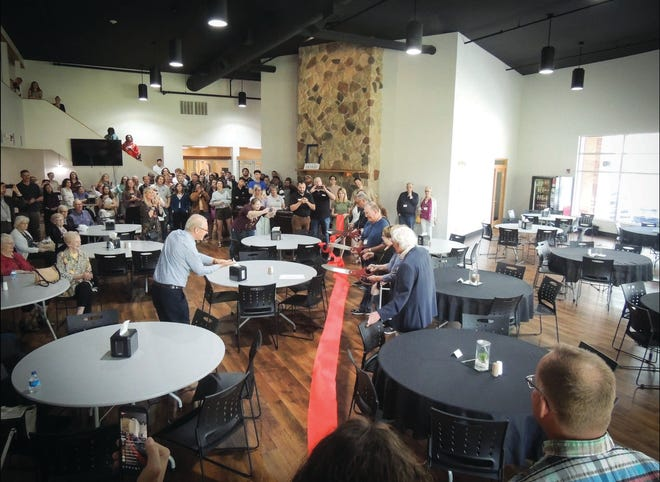 A new cafeteria area was dedicated Sept. 10 on the campus of Trinity Bible College in Ellendale, N.D.