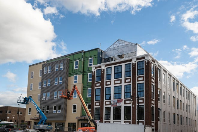 The nearly completed Worcester Common Ground apartment complex at 126 Chandler St. in Worcester on Thursday afternoon.