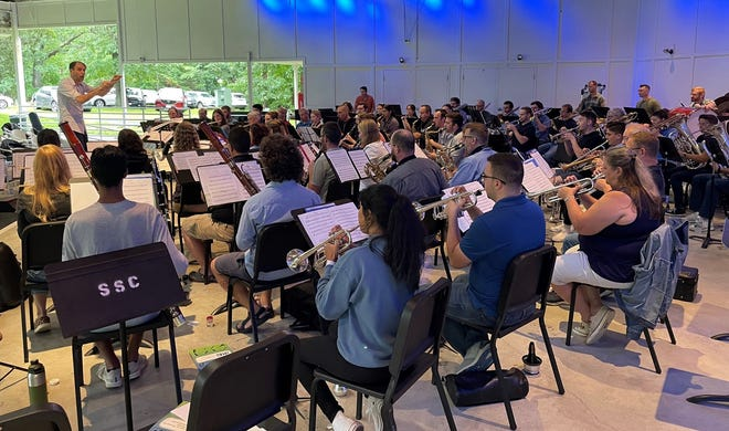 South Shore Conservatory's Carr Amphitheater stage was home to an informal music educator jam this summer.