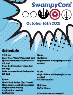 Swampscott Public Library will host the first SwampyCon on Saturday.  The chalk-full day of activities kicks off at 9:30 a.m.