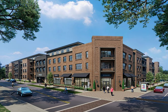 Renderings show plans for the 120 Charlotte Street project, in the works for the former Fuddruckers site.