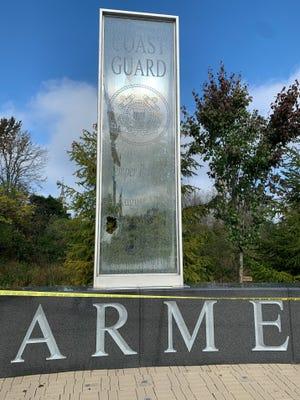 Police are investigating vandalism of veteran's memorial in Oakland Twp.