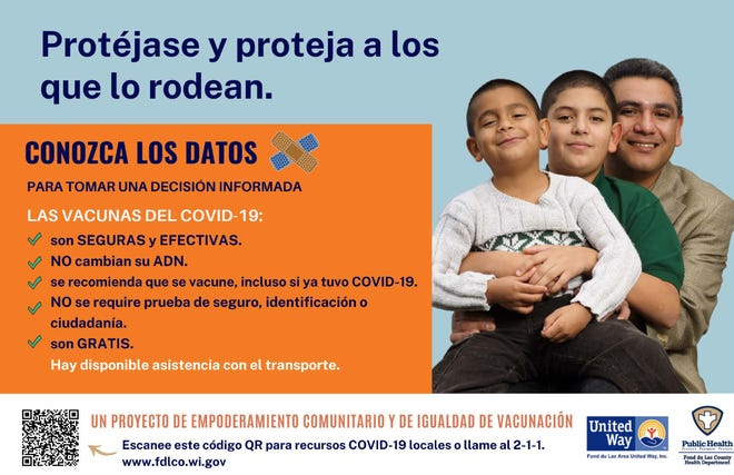 A Stop the Spread campaign in Fond du Lac targets the local Hispanic community to deliver virus facts and information on COVID-19.