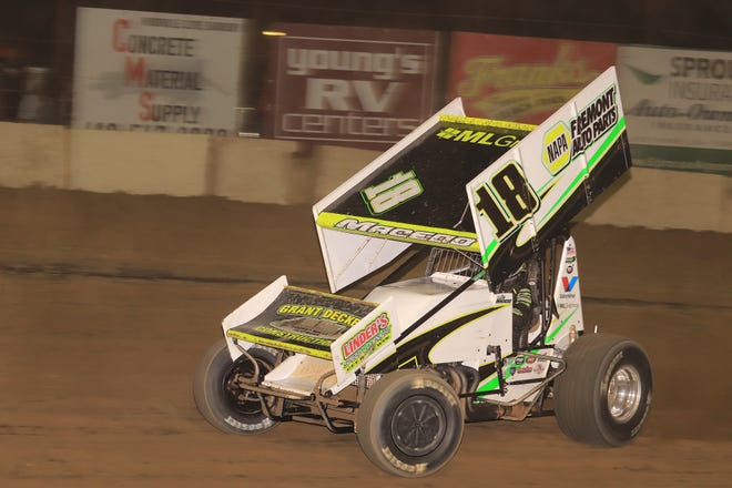 California driver Cole Macedo wins the Jim and Joanna Ford Classic at Fremont Speedway, It was the biggest win of Macedo's career.