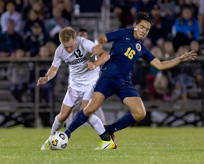 Brighton and Hartland will play in different soccer districts with the possibility of meeting in the regional semifinals.