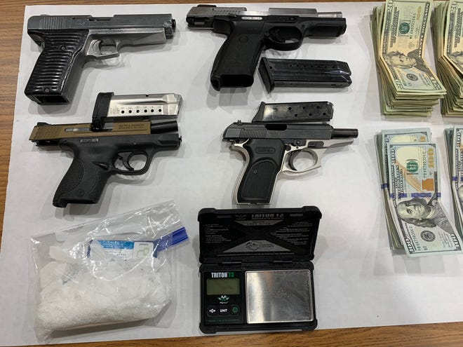 Evidence collected by the Manitowoc Metro Drug Unit in the case against Christopher L. Ramirez, who was sentenced to 10 years in federal prison for methamphetamine distribution.