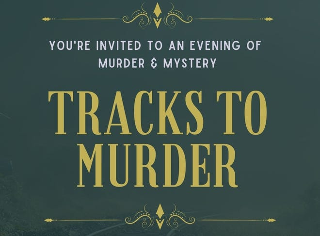 Flyer for murder mystery at the Clement Railroad Hotel Museum.