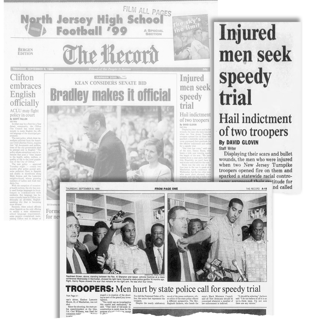 The Record's coverage of the indictment of the troopers involved in the Jersey Four shooting.