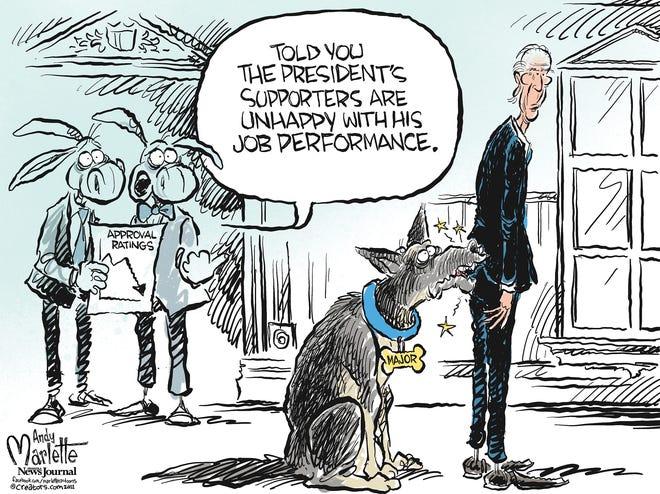 Marlette cartoon:Biden approval ratings plummet